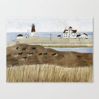 Seashore Lighthouse And … Canvas Print