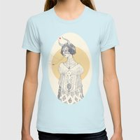 Echoed Womens Fitted Tee Light Blue SMALL