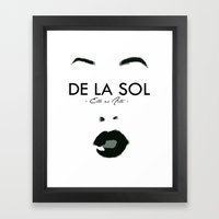 SOL SUPPORT TEE Framed Art Print