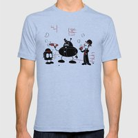 Smoke Break At The Clink… Mens Fitted Tee Tri-Blue SMALL