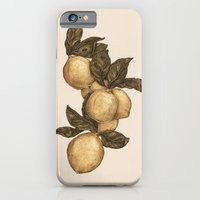 iPhone Cases featuring Lemons by Jessica Roux