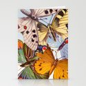 Vintage Butterfly Collage Stationery Cards