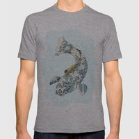 Koi japanese fish number two Mens Fitted Tee Athletic Grey SMALL