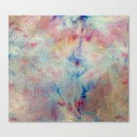 Tye Dye Kaleidoscope Sunset Canvas Print