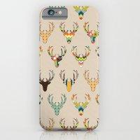 retro deer head on linen iPhone 6 Slim Case