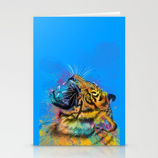 Angry Tiger Stationery Card