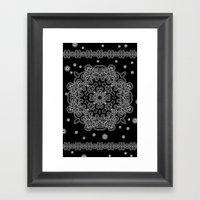 Elegant Black And White … Framed Art Print