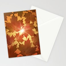 Autumn Leaves Fall Season Stationery Cards