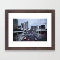 Oncoming Traffic  Framed Art Print