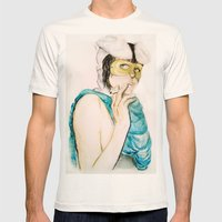 Smoking bunny Mens Fitted Tee Natural SMALL