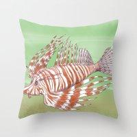 Fish Manchu Throw Pillow