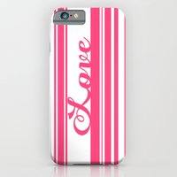 iPhone & iPod Case featuring Barcode Love; Pink. by Michaela Palmer