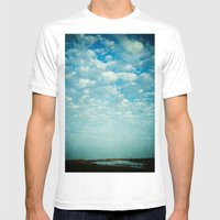 Where Sea and Sky Meet Mens Fitted Tee White SMALL