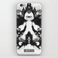 Megaman Geek Ink Blot Test iPhone & iPod Skin