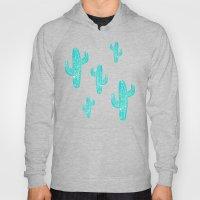 Linocut Cacti Desert Hoody