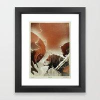 Fallen III. Framed Art Print
