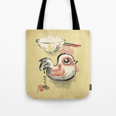 The Asian Chicken Rice Bowl Tote Bag