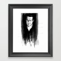 DARK COMEDIANS: Jason Segel Framed Art Print