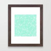 Ab Fan Mint Framed Art Print