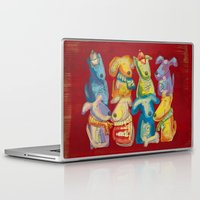 dogs Laptop & iPad Skins featuring Dogs by Catru