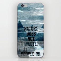 waste iPhone & iPod Skin