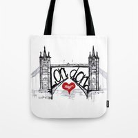 London With Love Tote Bag