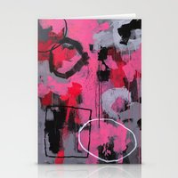 Abstract Painting - Rolling the Big Wheel Stationery Cards