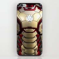 iron/man mark XLII restyled for samsung s4 iPhone & iPod Skin