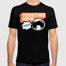 Together Now... AAH! SMALL Mens Fitted Tee Black