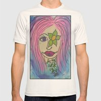Flower Girl Mens Fitted Tee Natural SMALL