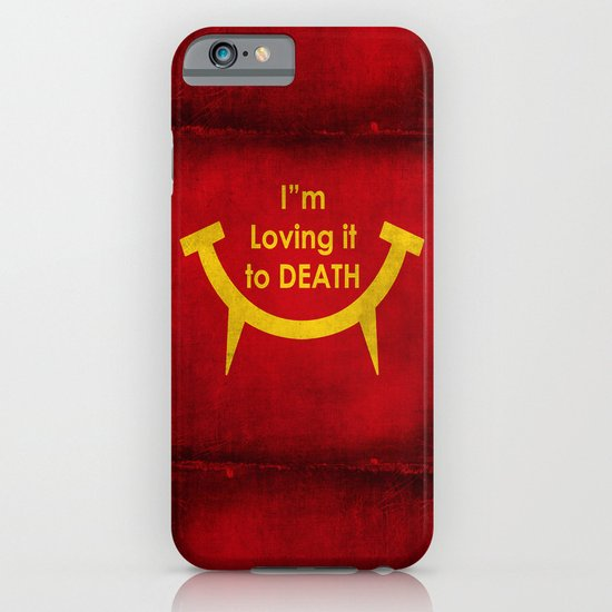 McViper the zombie and vampire fast food chain, Bloody good food is our motto! iPhone & iPod Case