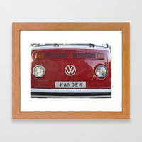 Wander wolkswagen. Summer dreams. Red Framed Art Print