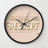 No Room For Dessert Wall Clock