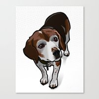 Clancy (white) Canvas Print