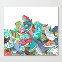 Tons of Shoes Canvas Print