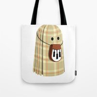 Plaid Ghost Tote Bag