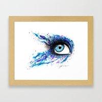 Open your eyes Framed Art Print