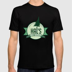 Hal's Tree Service Mens Fitted Tee Black SMALL
