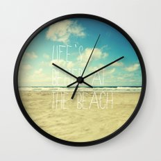 Life's Better At The Bea… Wall Clock