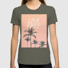 Live Free Womens Fitted Tee Lieutenant SMALL