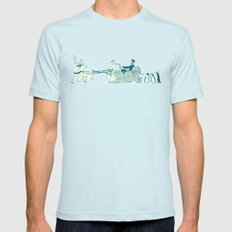 Snow Queen Mens Fitted Tee Light Blue SMALL