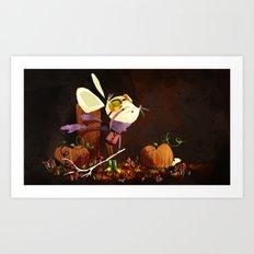 Autumn Mouse Art Print