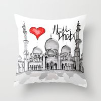I Love Abu Dhabi  Throw Pillow