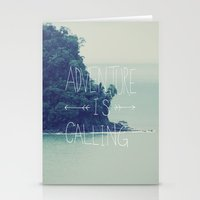 adventure Stationery Cards featuring Adventure Island by Leah Flores