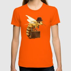 Worker Bee Womens Fitted Tee Orange SMALL
