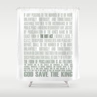 The Riot Act Shower Curtain