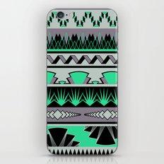 art deco stripes - green & pale purple iPhone & iPod Skin