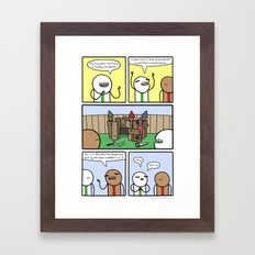 Antics #359 - constructive criticism Framed Art Print