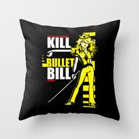 Kill Bullet Bill (Black/Yellow Variant) Throw Pillow