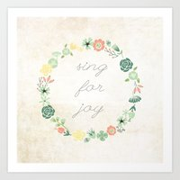 SING FOR JOY Art Print